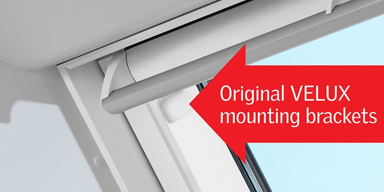 Control the light with solar powered blinds velux for Velux solar blinds installation instructions